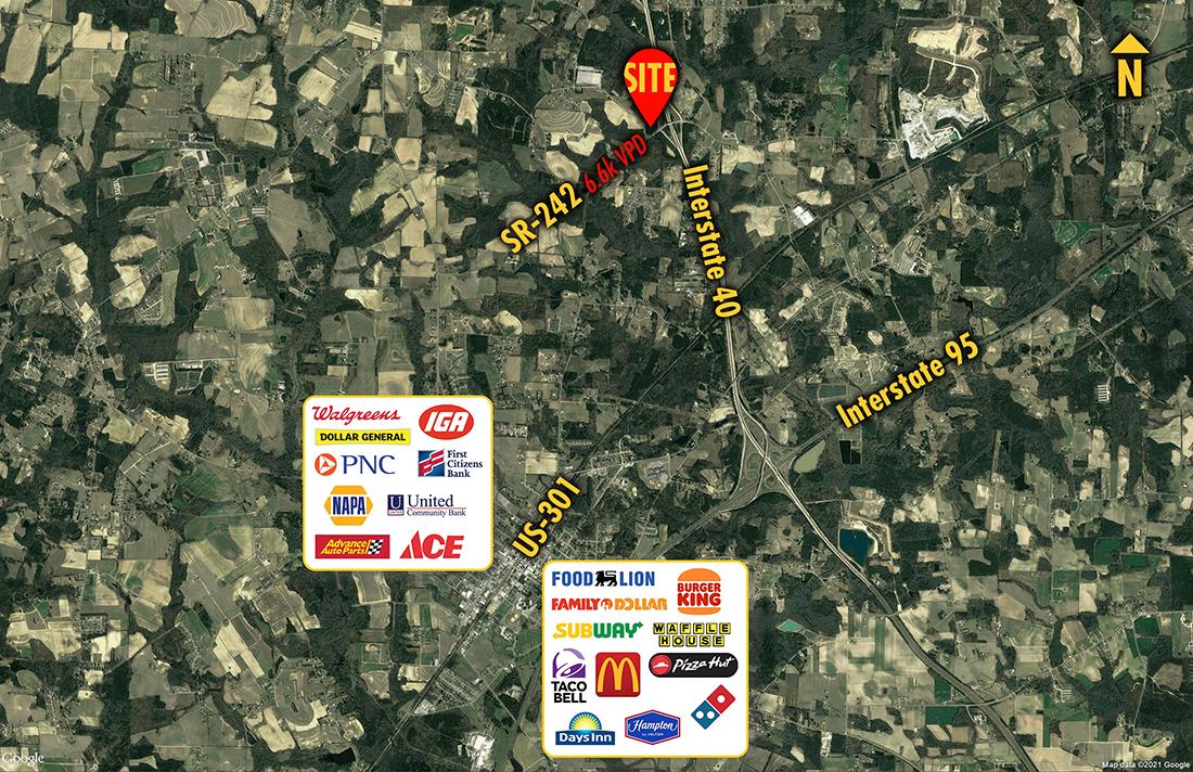 Site 1566, SWC SR-242 & I-40, Benson, NC