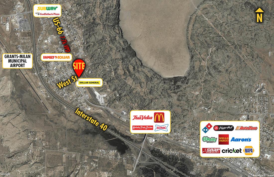 Site 1831, 610 West Highway 66, Milan, NM