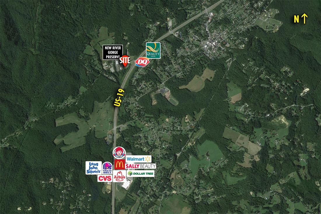 Site 3950, SWC US 19 & Laurel Creek Road, Fayetteville, WV