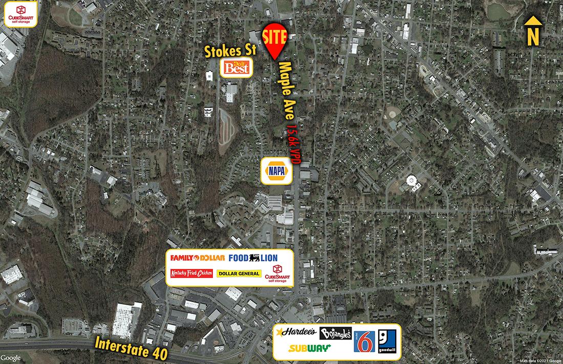 Site 6957, 1407 Maple Avenue, Burlington, NC