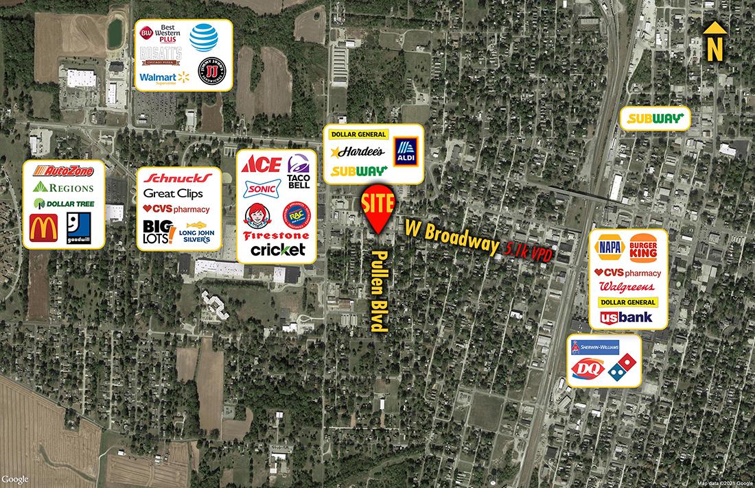 Site 7344, 638 W Broadway , Centralia, IL