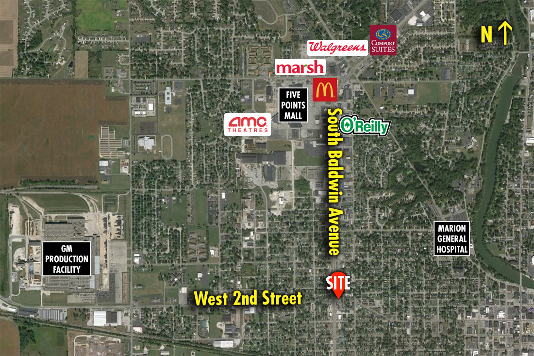 Site 8603, 1338 W. Second Street (SR 18), Marion, IN