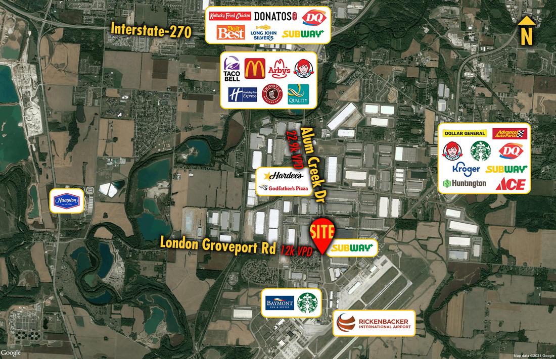 Site 9405, NWC Alum Creek Dr & London-Groveport Rd, Columbus, OH
