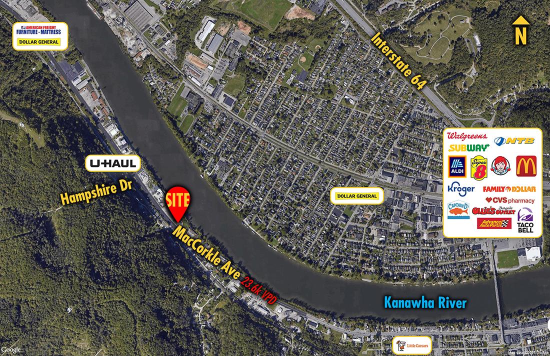 Site 9779, 5918 Maccorkle Avenue SW, St. Albans, WV