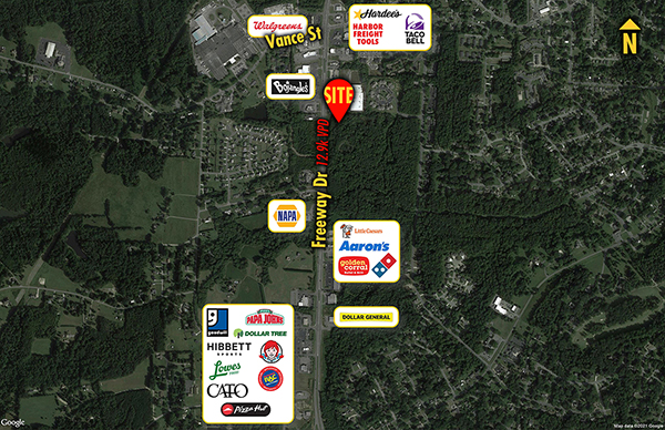 Site 1559, Freeway Drive South of Vance, Reidsville, NC