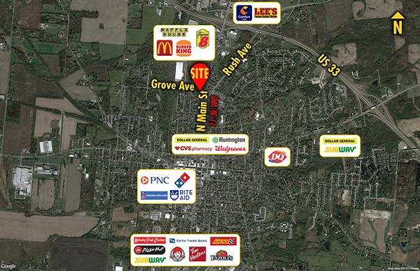 Site 3430, 721 N Main Street, Bellefontaine, OH