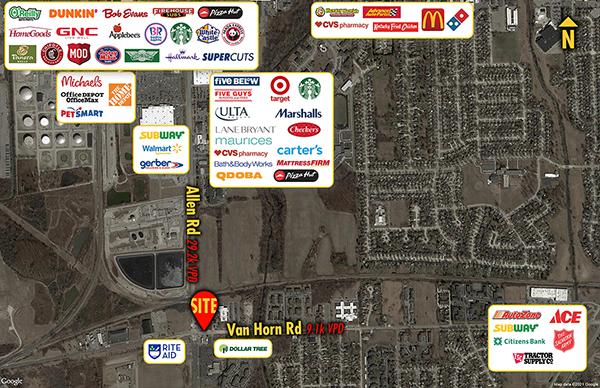 Site 8878, 24995 Allen Road, Woodhaven, MI