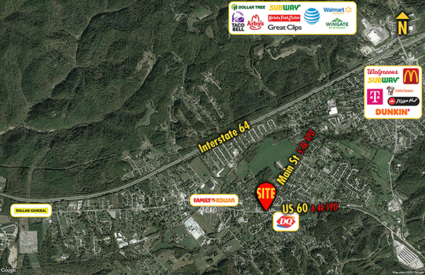 Site 9221, 2400 US-60               , Culloden, WV