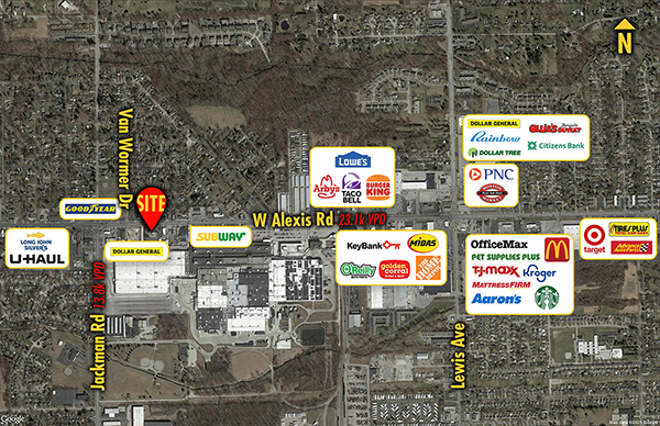 Site 9688, 1525 West Alexis Road, Toledo, OH