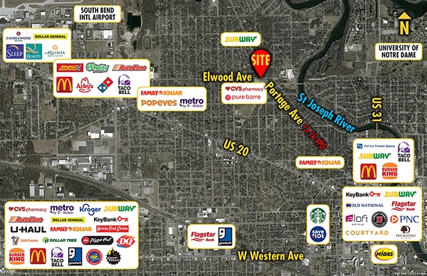 Site 9695, 1405 Portage Avenue, South Bend, IN
